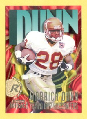 1997 Skybox Impact Warrick Dunn RC Falcons Bucs