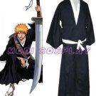 Bleach Ichigo Kurosaki Soul Reaper Cosplay Costume
