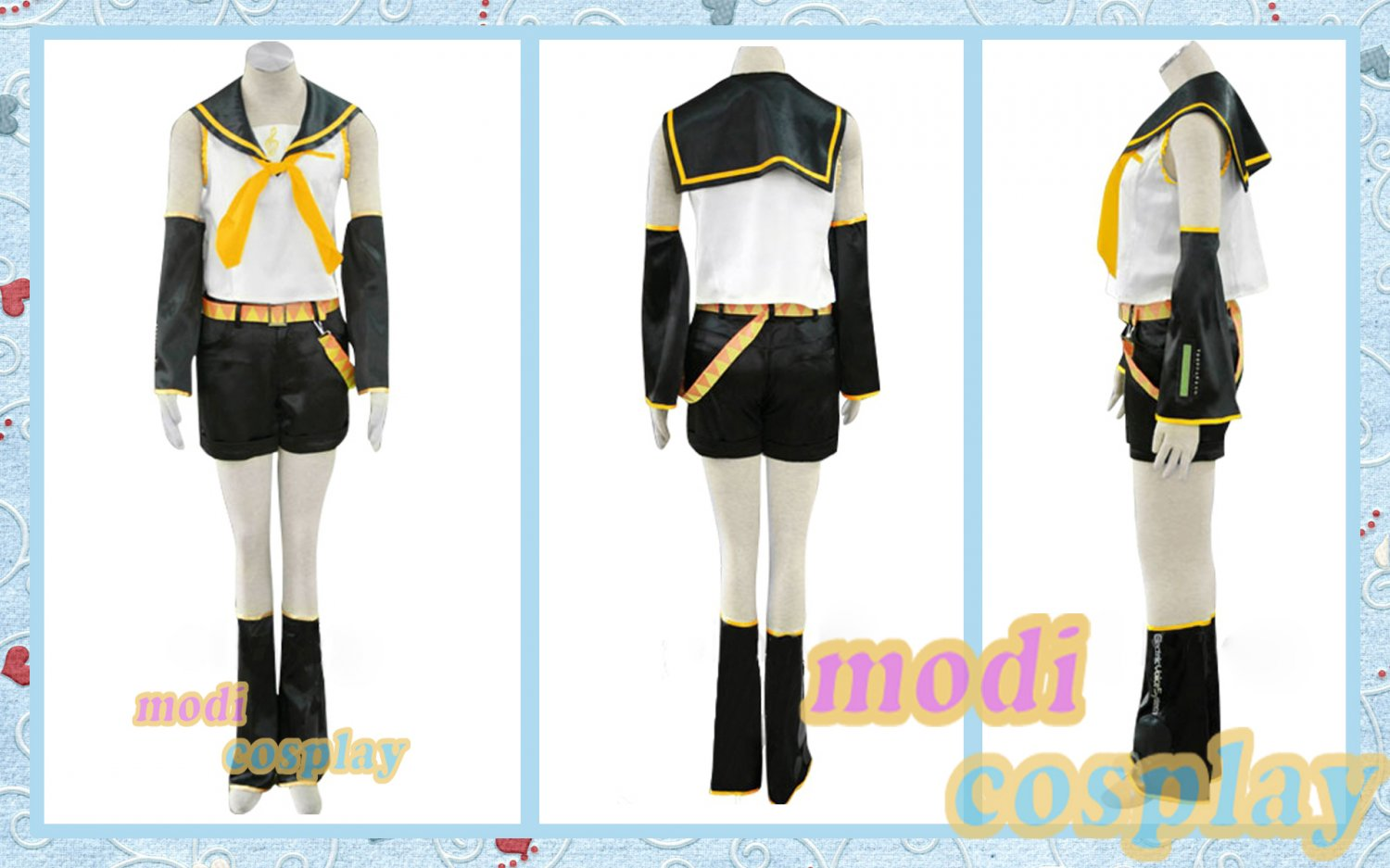 Vocaloid Kagamine Rin Anime Cosplay Costumes,all size