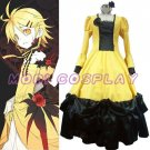 Vocaloid Kagamine Rin Yellow Dress Cosplay Costume