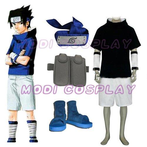 Naruto Sasuka Uchiha Cosplay Costume,all size