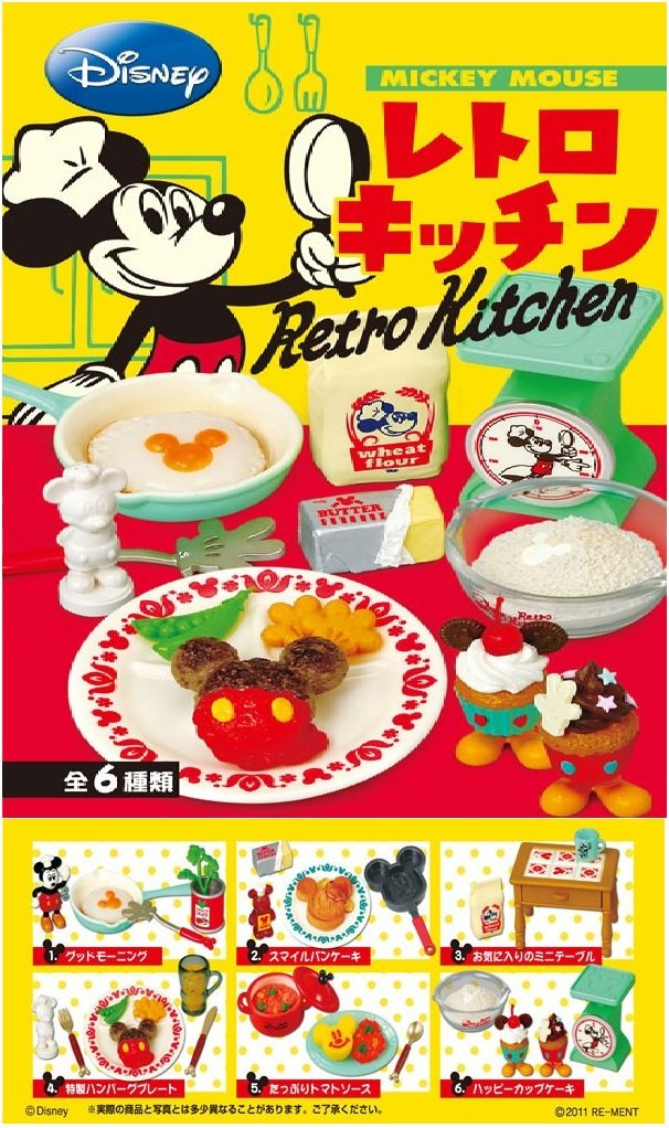 Re-ment Disney Mickey Retro Kitchen Box Set of 6