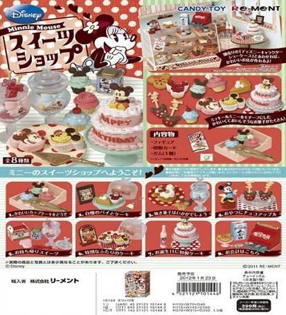 Re-ment Disney Minnie Mouse Sweets Shop Set of 8