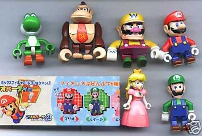 Nintendo Mario Kubrick Gashspon Figure Full Set of 6