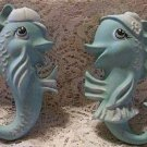 VINTAGE STYLE BOY AND GIRL FISH WALL PLAQUES SET
