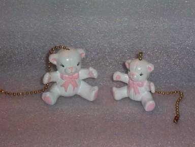 TEDDY BEARS ceiling fan pulls set of two TEDDYBEARS