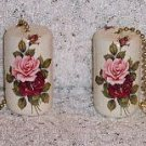 ROMANTIC ROSES ceiling fan pulls set (2) new