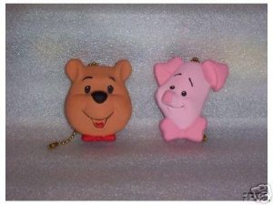 WINNIE THE POOH AND PIGLET ceiling fan pulls new Full 3-D design