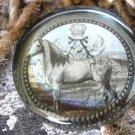 Equestrian  Horse & Crown Vintage-Look Heavy Paperweight