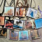 NEW! 12 Tile Maxfield Parrish Art Pendant Necklaces. Great for resale! or Gifts!