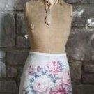 100% Cotton Canvas French Rose Flower Floral & Polka Dot Lap Apron