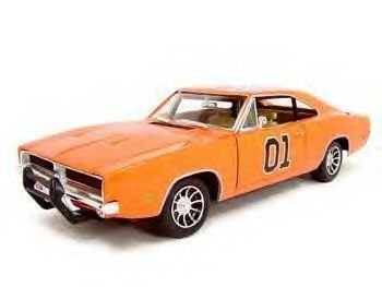 1969 DODGE CHARGER DUKES OF HAZARD 1:18 DIECAST MODEL