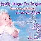 Sweet Angel Background Photo Baptism and Christening Invitations 5x8