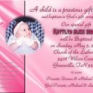 Elegant in Pink Photo Baptism and Christening Invitations 5 x 8