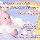Jesus Our Savior Photo Baptism and Christening Invitations 5 x 8