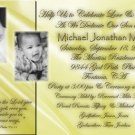 Multi Photos Gold Tone Photo Baptism and Christening Invitations 5x8