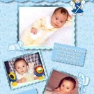 Multi Photos in BluePhoto Baptism and Christening Invitations 5 x 8