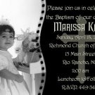 Photo Baptism and Christening Invitations 5 x 8 One Main Photo in BW