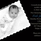 Black and White Boy Photo Baptism and Christening Invitations 5 x 8