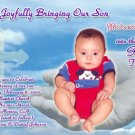 God's Hands and Photo Photo Baptism and Christening Invitations 5 x 8