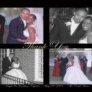 Four Photos in a Frame Multi Photo Wedding Photo Thank You Card