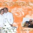 Roses Background in Peach or Any Color Wedding Photo Thank You Card