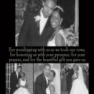 Black Background Four Photos Collage Wedding Photo Thank You Card