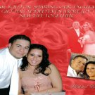 Roses Background Any Color Multi Photo Wedding Photo Thank You Card