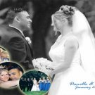Elegant Classy Multi Photo Collage BW Wedding Photo Thank You Card