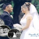 Wedding Photo Thank You Card Elegant Classy Multi Photo Collage Color