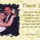 One Main Photo Golden Cream Background Wedding Photo Thank You Card