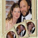 Gold or Any Color Swirls with Insets Wedding Photo Thank You Card