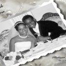 One Main Photo Pearls and Rhinestones Wedding Photo Thank You Card