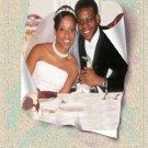 Wedding Photo Thank You Card Main Photo Whimsical Textured Background