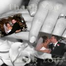 Wedding Rings and Hands Multi Photos Wedding Photo Thank You Card