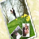 Wedding Photo Thank You Card Collage up to Four Photos