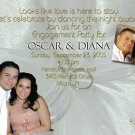 Satin & Silver Rings Photo Engagement and Wedding Announcements 5 x 8