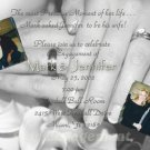 Photo Engagement and Wedding Announcements 5 x 8 Holding Hands & Ring