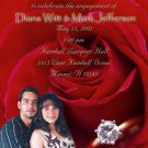 Red Rose and Ring Photo Engagement and Wedding Announcements 5 x 8