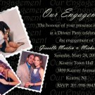Black up to Five Pics Photo Engagement & Wedding Announcements 5 x 8