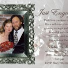 Elegant Silver Frame Photo Engagement and Wedding Announcements 5 x 8