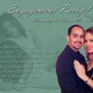 Your Choice of Color Photo Engagement and Wedding Announcements 5 x 8