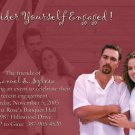 Custom Colors Photo Engagement and Wedding Announcements 5 x 8
