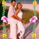 Aloha Hibiscus Flower Photo Engagement and Wedding Announcements 5x8