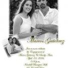 Black & White 2 Photo Engagement & Wedding Announcements 5 x 8