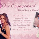 Pink Hibiscus Flowers Photo Engagement & Wedding Announcements 5 x 8
