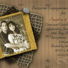 Modern Textured Photo Engagement and Wedding Announcements 5 x 8