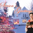 Country Christmas Tree Custom Photo Christmas Cards 5 x 8