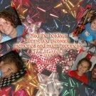 Bows Celebration Custom Photo Christmas Cards 5 x 8
