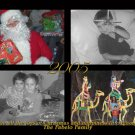 Black and White with Four Photos Custom Photo Christmas Cards 5 x 8